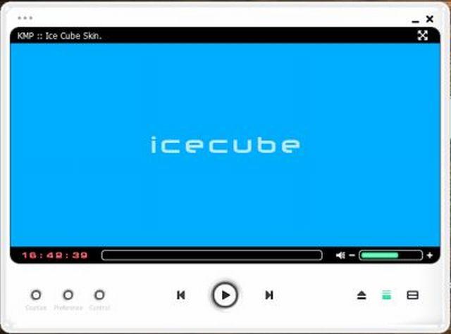 Okno přehrávače Icecube